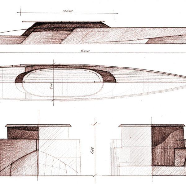 Exterior yacht design AD50MY mt